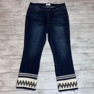 Crown & Ivy Embellished Jeans Size 8P
